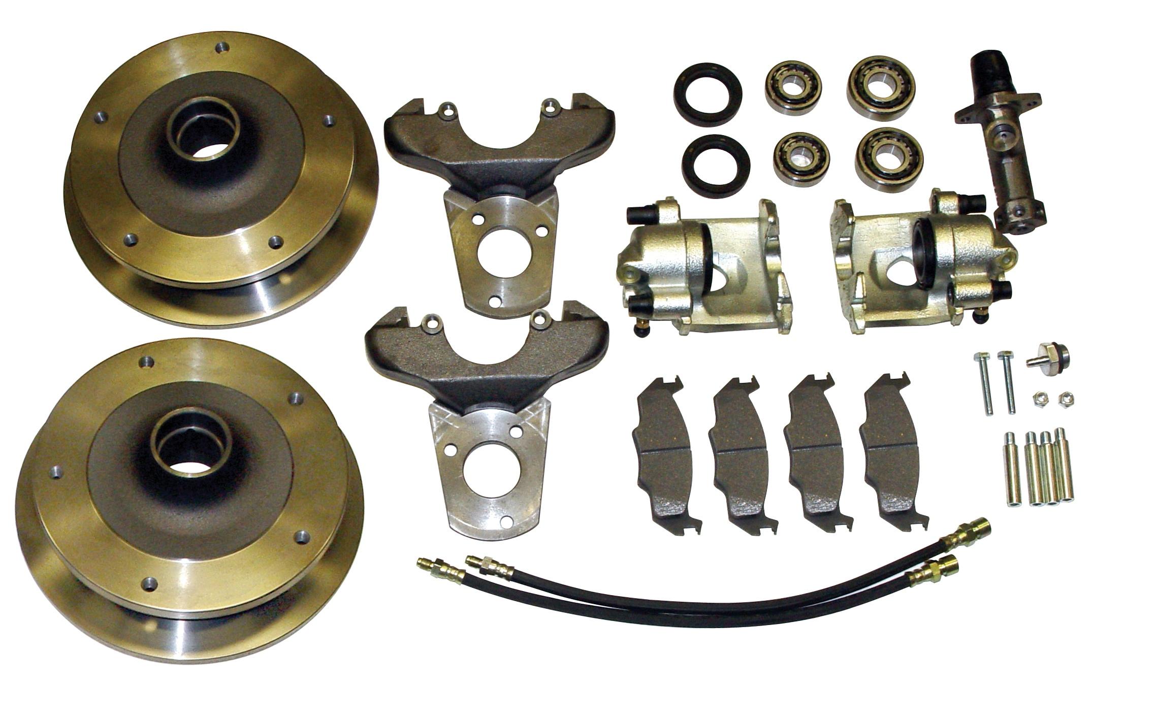 Rear disc brake conversion kit for 68-79 4 lug VW Volkswagen without emergency