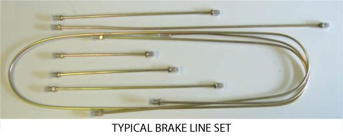 Brake Line Kits, Metal  Swing Axle Transmission  VW Beetle