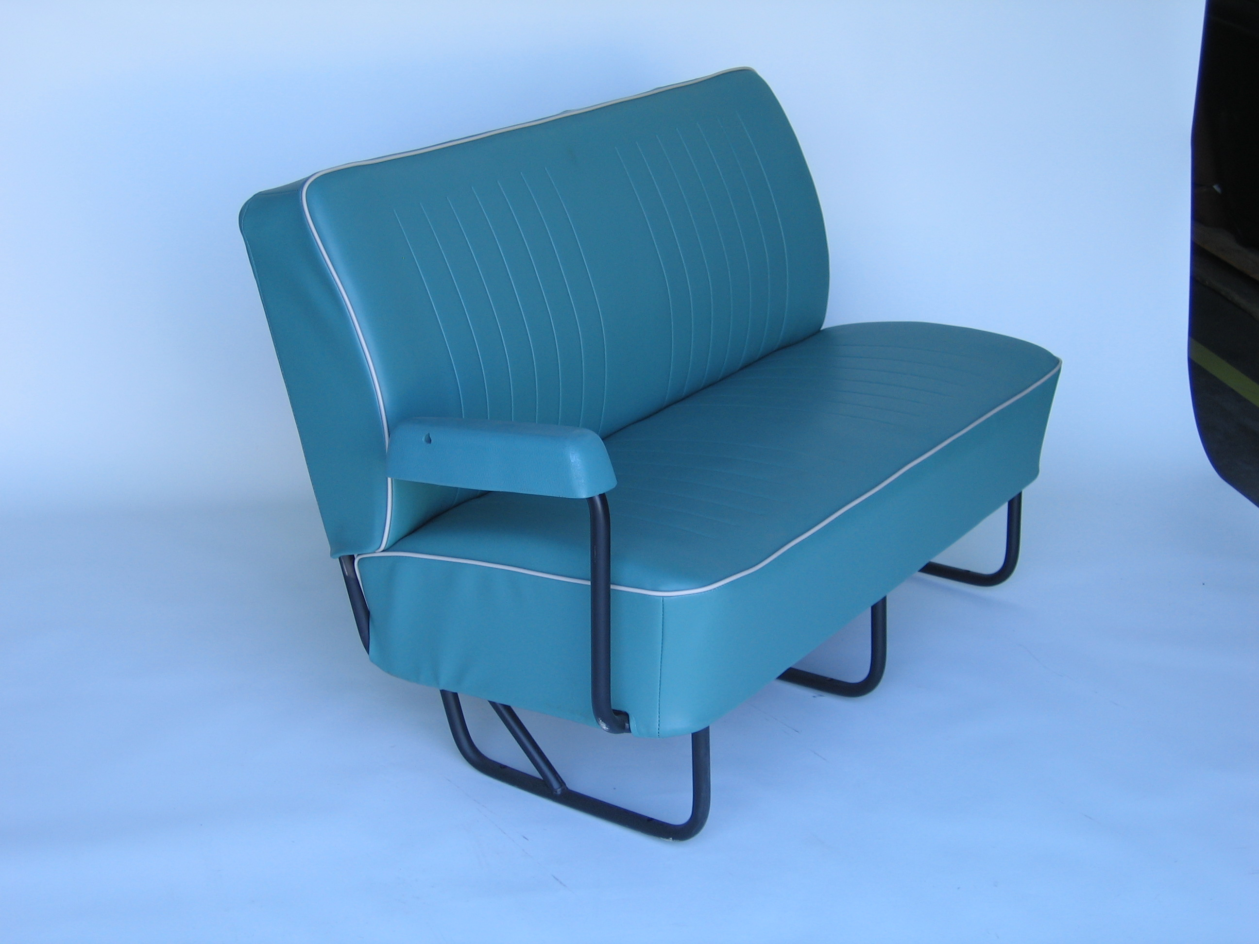 Bus Middle Bench Seat Cover 3 4 Width Two Tone 1950