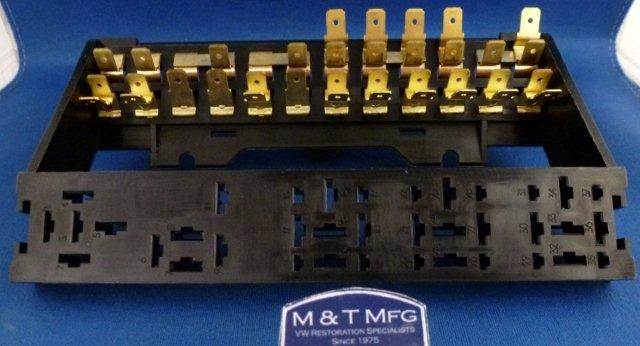 Fuse Box, 12 Fuse. Without Cover. Includes Relay Plate.VW ... Karmann Ghia Fuse Box on