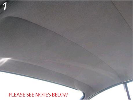 Headliner In Premium Heavy Weight Vinylvw Karmann Ghia