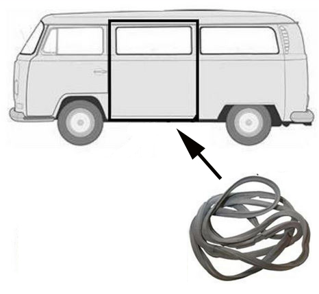 Volkswagen Bus Vanagon Eurovan Seals Parts For Cargo Doors