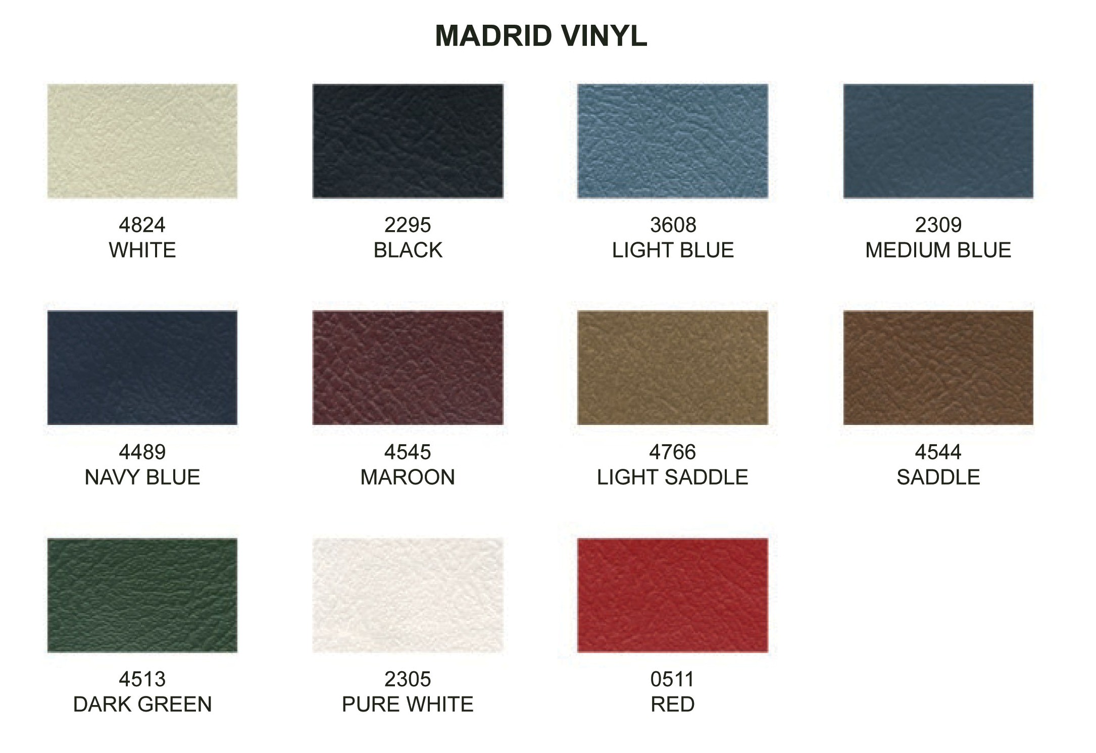 Madrid Vinyl One Yard Used For Convertible Top Boot Or