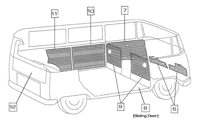 volkswagen bus  vanagon  eurovan door panels  u0026 kick panels