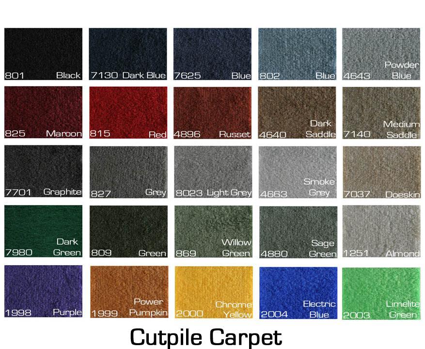 Karmann Ghia Floor Mats Carpeted