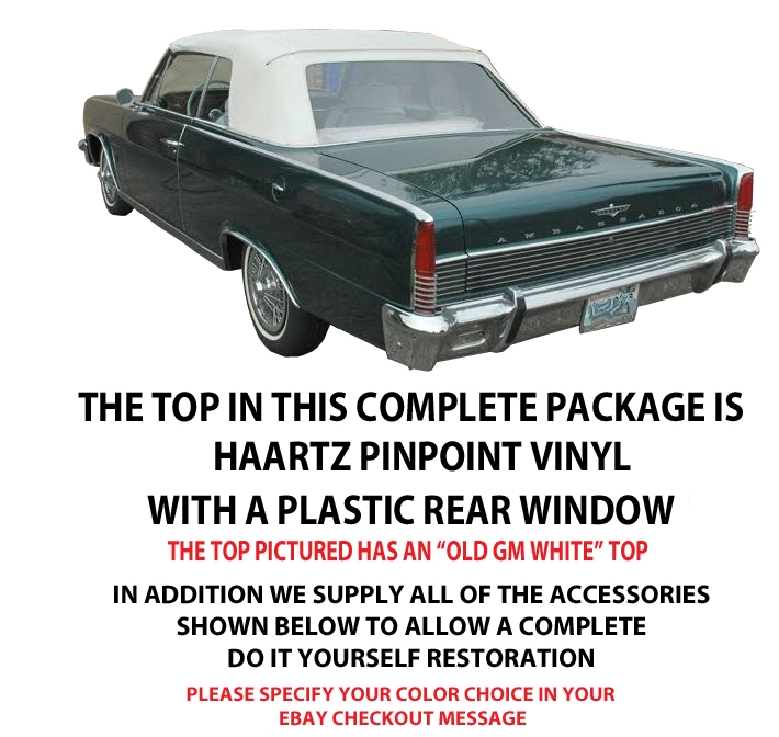 the package should enable a handy first time installer to remove the old and put on the new rambler ambassador