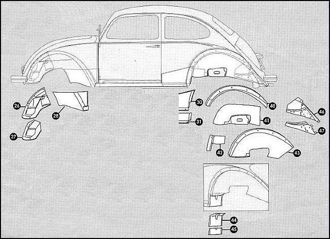 1973 Vw Super Beetle Black And White Design Art