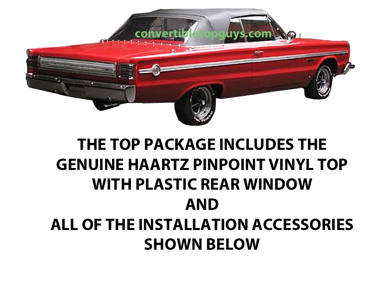 GTX convertible top cylinder 1965 Plymouth Satellite