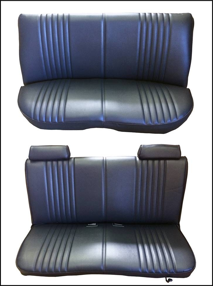 Acme U278S-4489 Front and Rear Navy Blue Vinyl Bench Seat Upholstery