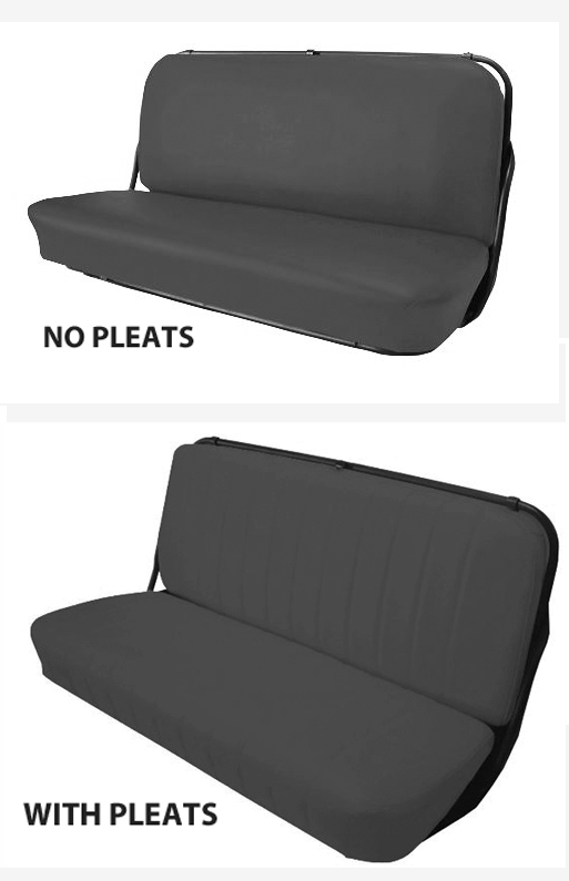 Acme U106-0511 Front Red Vinyl Bench Seat Upholstery