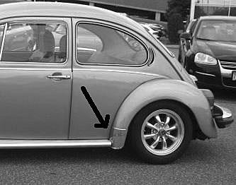 Volkswagen Beetle Gravel (Stone) Guards