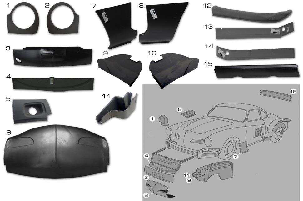 Karmann Ghia Sheet Metal Panels 1