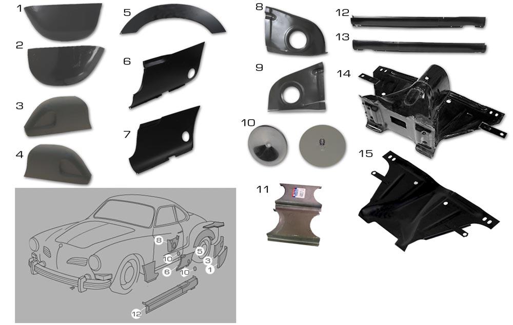Karmann Ghia Sheet Metal Panels 2