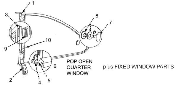 Karmann Ghia Quarter Window Seals And Parts