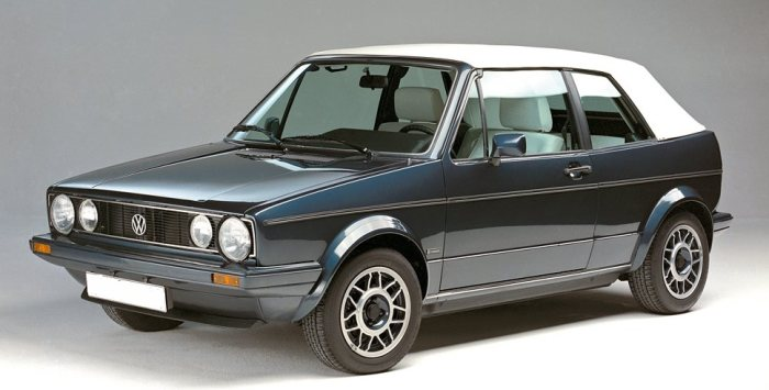 Volkswagen Rabbit Cabriolet Convertible Tops 1979 94