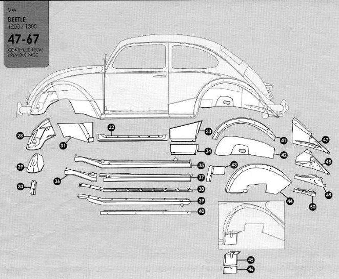 Volkswagen Beetle 1947 1967 Sheet Metal