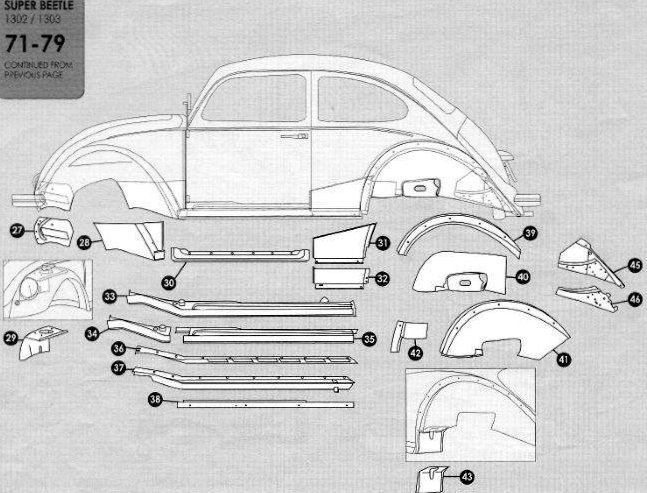 Volkswagen Beetle 1971 1979 Sheet Metal