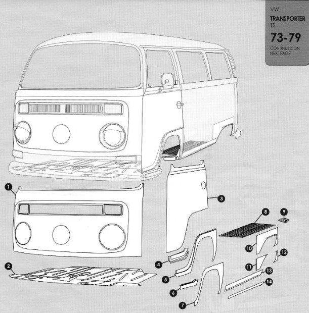 Volkswagen Bus  Vanagon  Eurovan 1973