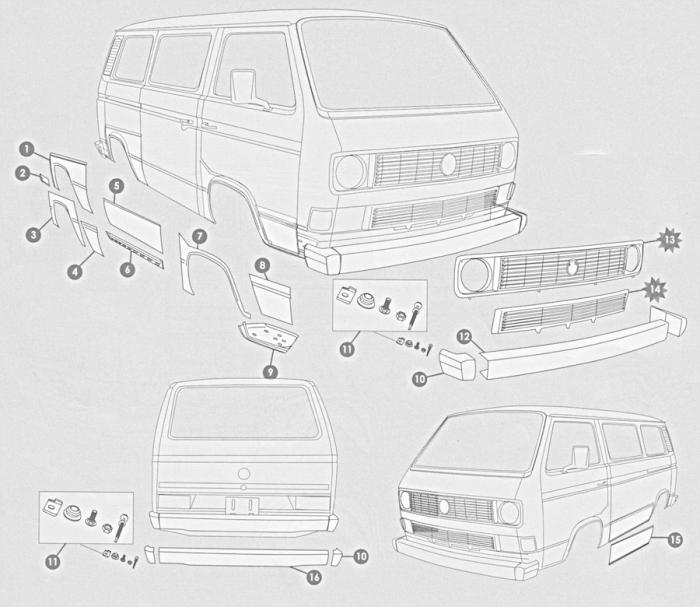 Volkswagen Bus Vanagon Eurovan 1980 1990 Sheet Metal